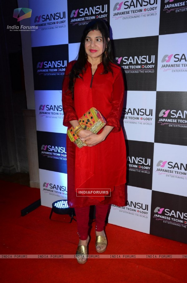 Alka Yagnik at Anu Malik's Felicitation Ceremony