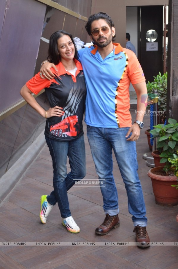 Sikandar Kharbanda and Jaswir Kaur at Box Cricket League Bash