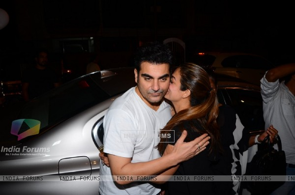 Arbaaz Khan and Amrita Arora Snapped at Olive Post attending dinner of her parent's anniversary