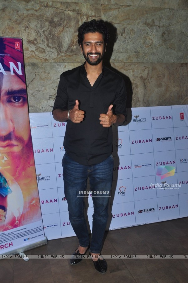 Vicky Kaushal at Special Screening of the film Zubaan
