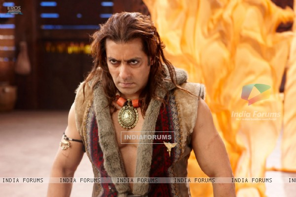 Angry Salman in the movie Veer