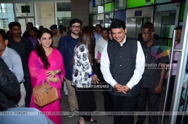 CM Devendra Fadnavis and Shaina NC at Sonali Bendre's Book Launch