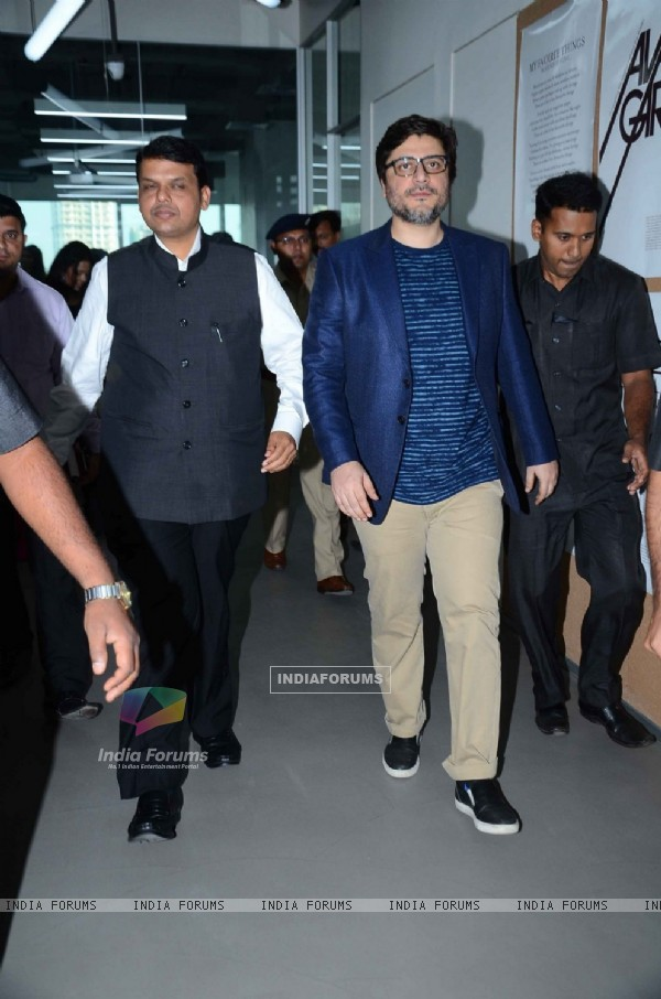 CM Devendra Fadnavis with Goldie Behl at Sonali Bendre's Book Launch