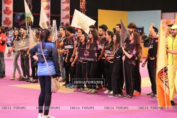 Dehli Dragons at BCL Parade Ceremony