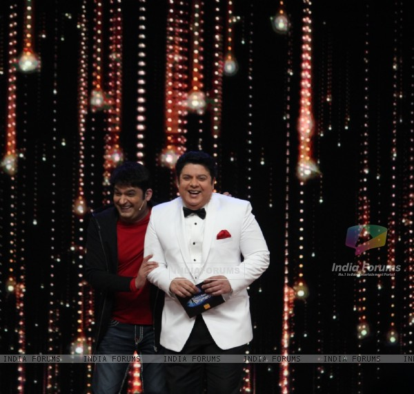 Kapil Sharma with Sajid Khan at India's Best Dramebaaz Grand Finale