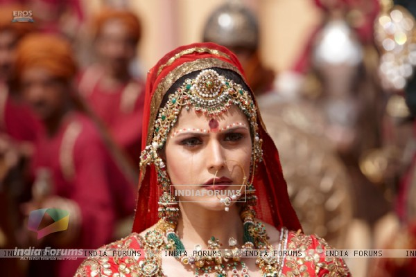 Zarine Khan looking worried