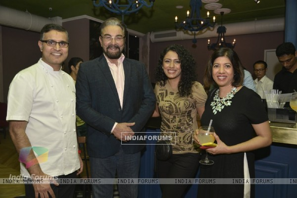 Kabir Bedi and Parveen Dusanj at Launch of 'LIMA Restaurant'