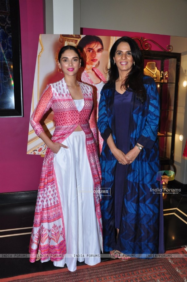 Anita Dongre with Aditi Rao Hydari Launches her New Collection
