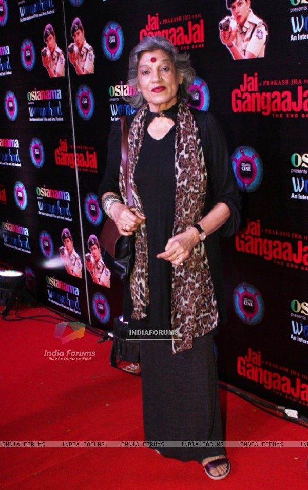 Theatre actor Dolly Thakore at Jai Gangaajal Red Carpet Special Screening