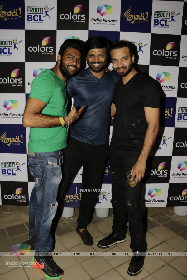 Mumbai Tigers Owners Nikul Vicky and Anand Mishra at BCL Party at Opar Bar
