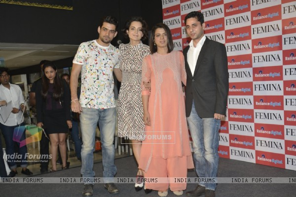 Kangana Ranaut With Rangoli at Femina Cover Launch