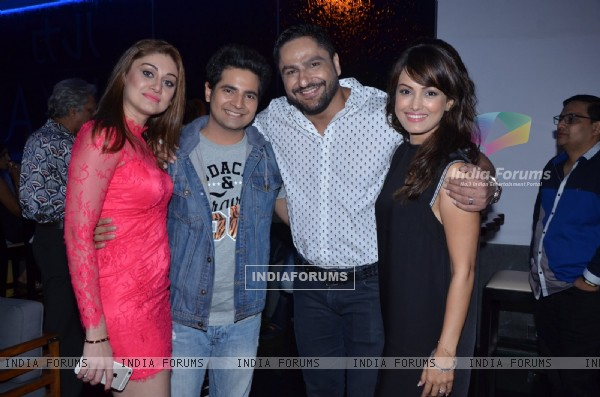 Karan Mehra with Nisha Rawal and Parag Tyagi Snapped at RUKA