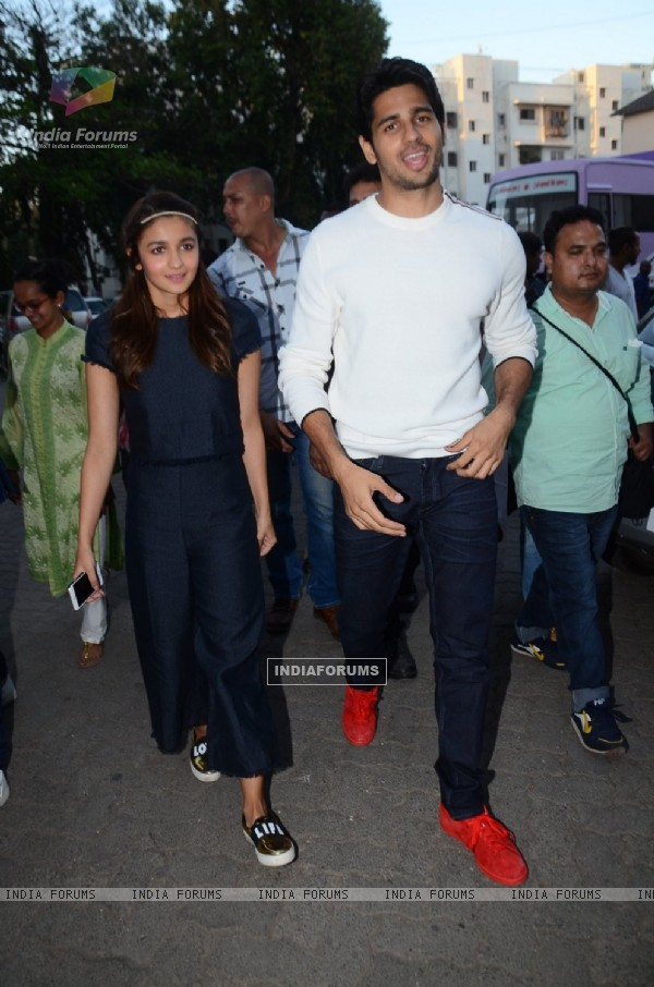 Sidharth Malhotra and Alia Bhatt for Kapoor & Sons Promotion at Mehboob Studio