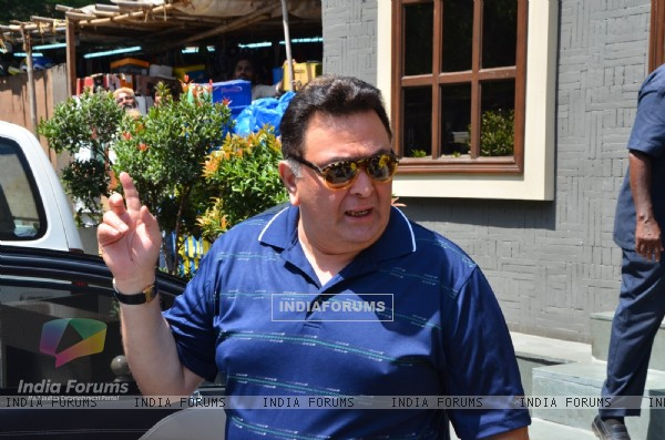 Rishi Kapoor at Kapoor & Sons Team at Lunch