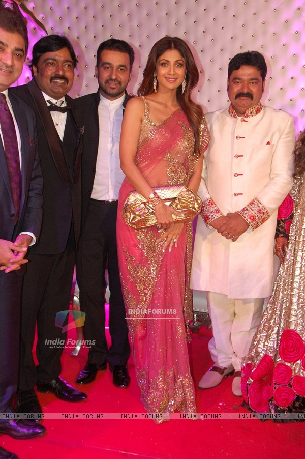 Shilpa Shetty and Raj Kundra at Awdesh Dixit's Indore Bash