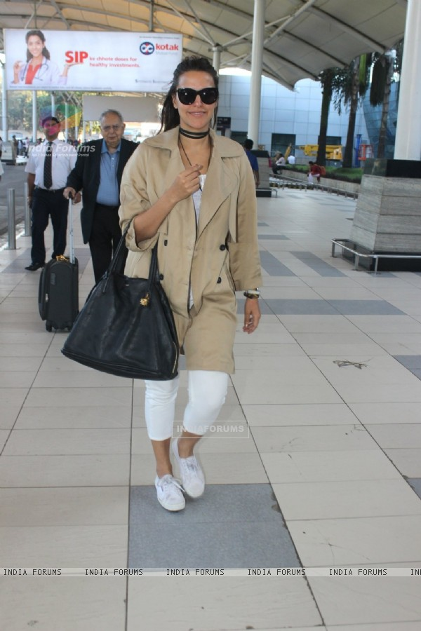 Neha Dhupia Snapped at Airport