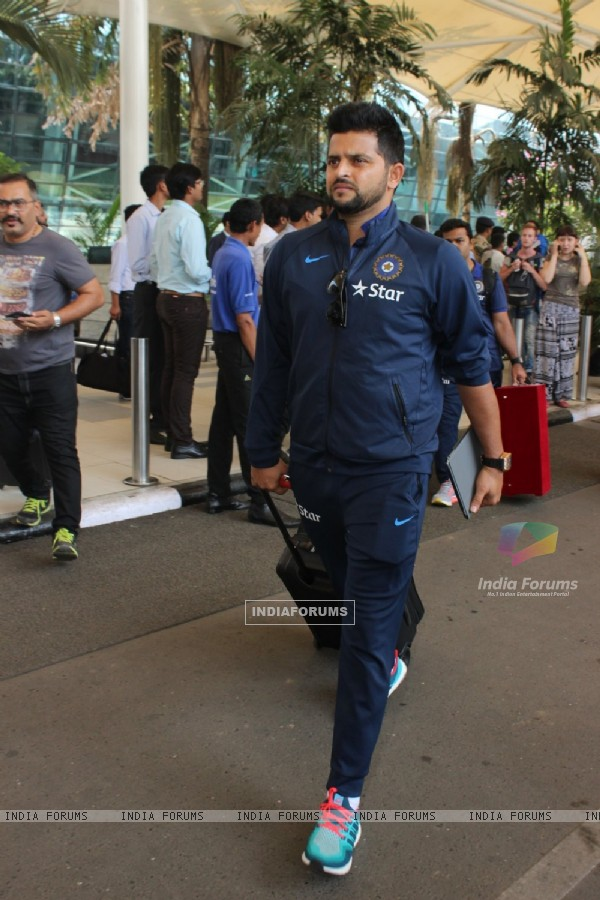 Suresh Raina Snapped at Airport