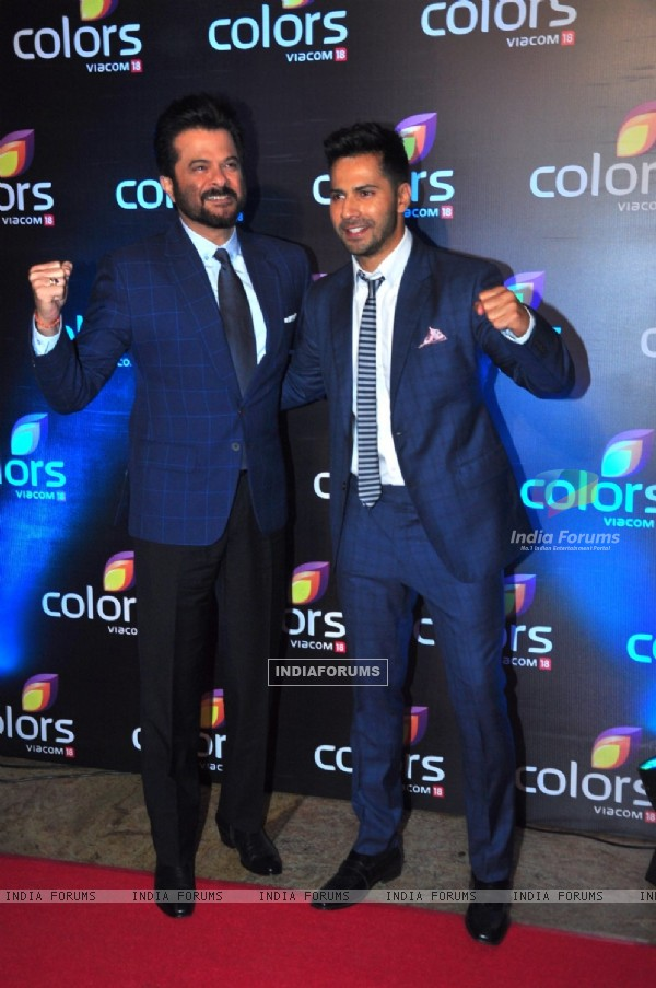 Anil Kapor and Varun Dhawan at Colors TV's Red Carpet Event