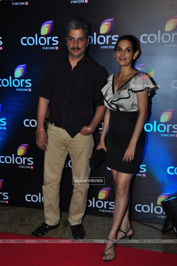 Varun Badola and Rajeshwari Sachdev at Colors TV's Red Carpet Event