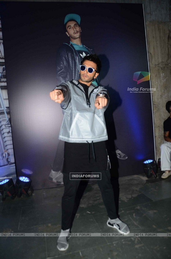 Ranveer Singh at Adidas Launch