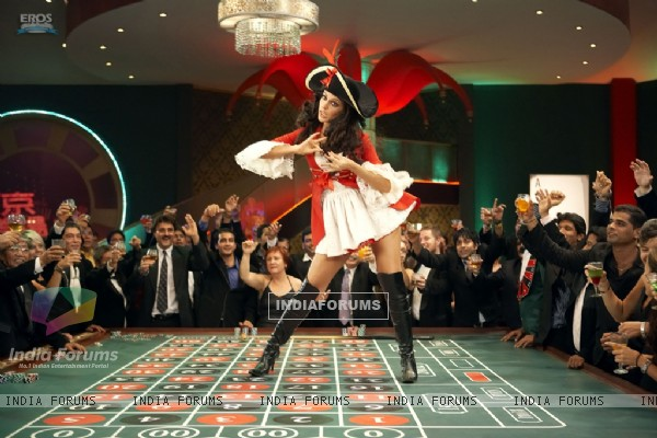 Neha Dhupia dancing on a dance floor