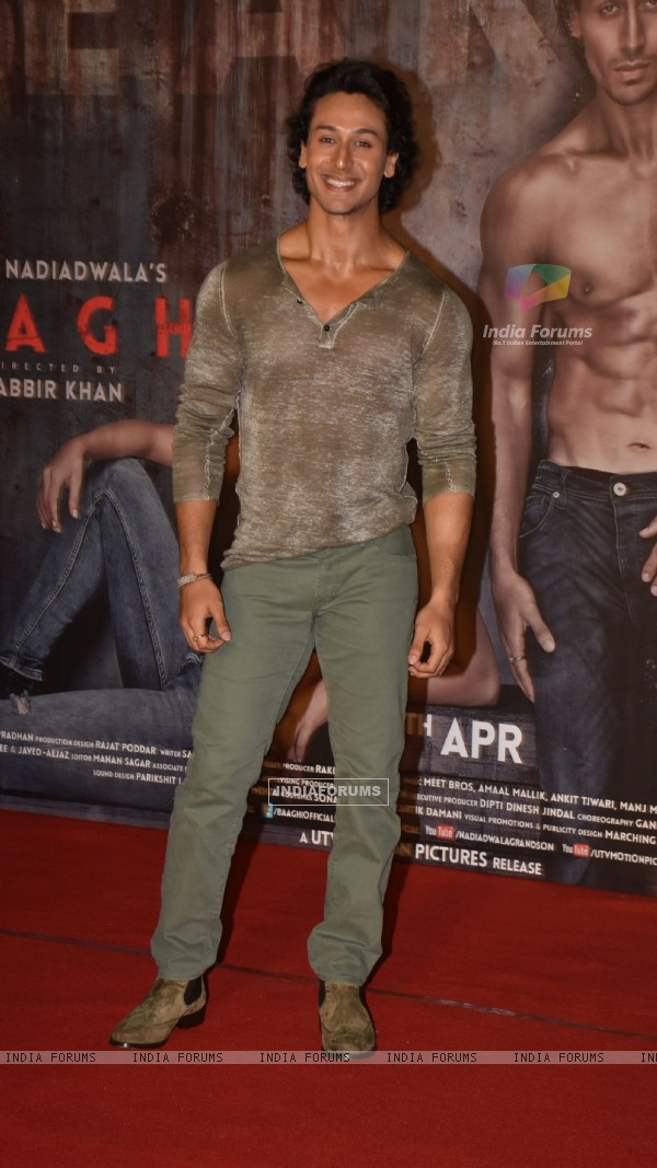 Tiger Shroff at the Trailer Launch of 'Baaghi'