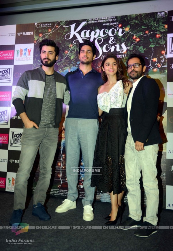 Alia Bhatt, Fawad Khan and Sidharth Malhotra for Kapoor & Sons Promotions in Delhi
