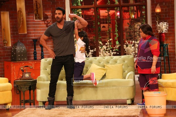 John Abraham for Rocky Handsome Promotions in Comedy Nights Live