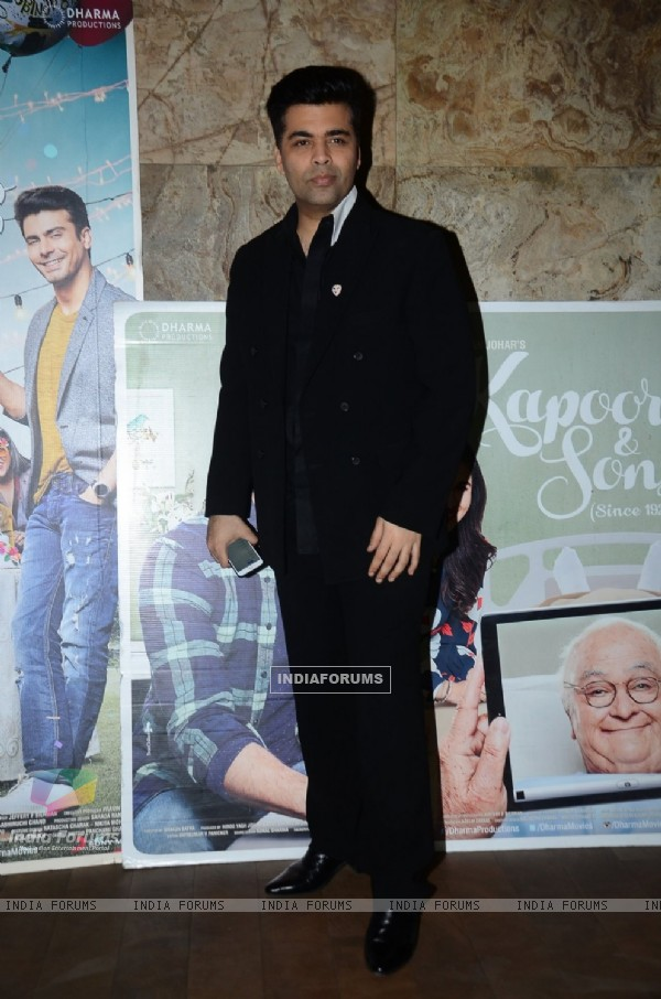 Karan Johar at Special Screening of Kapoor & Sons