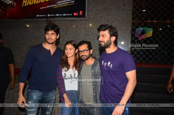 Sidharth Malhotra, Alia Bhatt, Shakun Batra and Fawad Khan at Kapoor & Sons Promotions