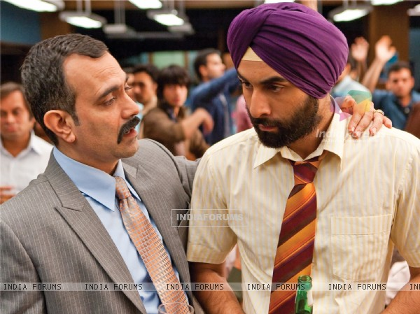 Ranbir Kapoor listening to his boss