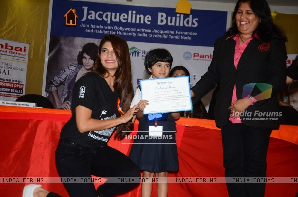 Jacqueline Fernandes at Habitat for Humanity Event