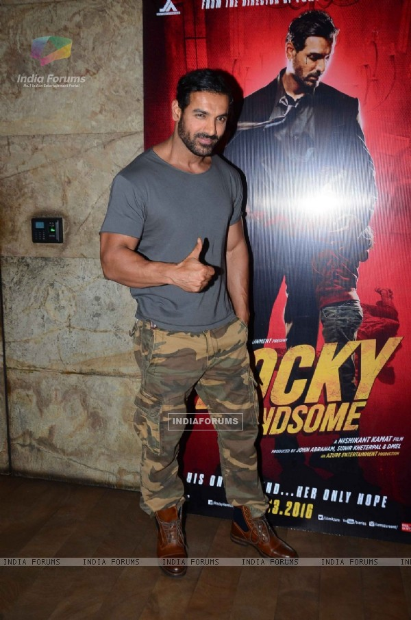 John Abraham at Special Screening of Rocky Hansome
