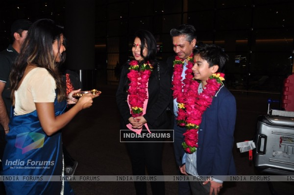 Jungle Book Star Neil Sethi at Airport