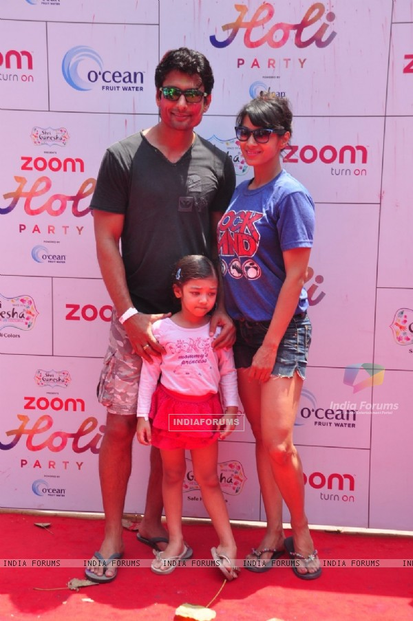Indraneil Sengupta and Barkha Bisht at Zoom Holi Party
