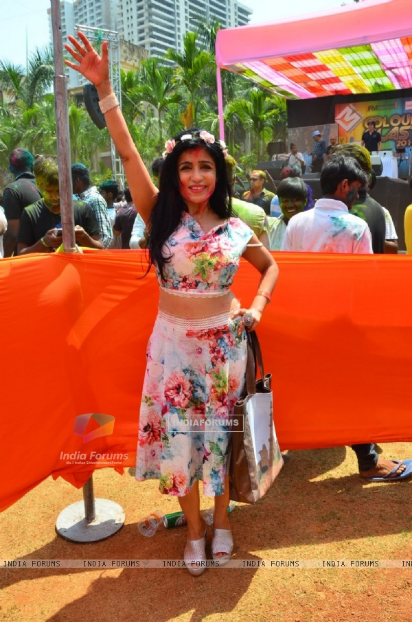 Shibani Kashyap at Meet Bros Holi Celebrations