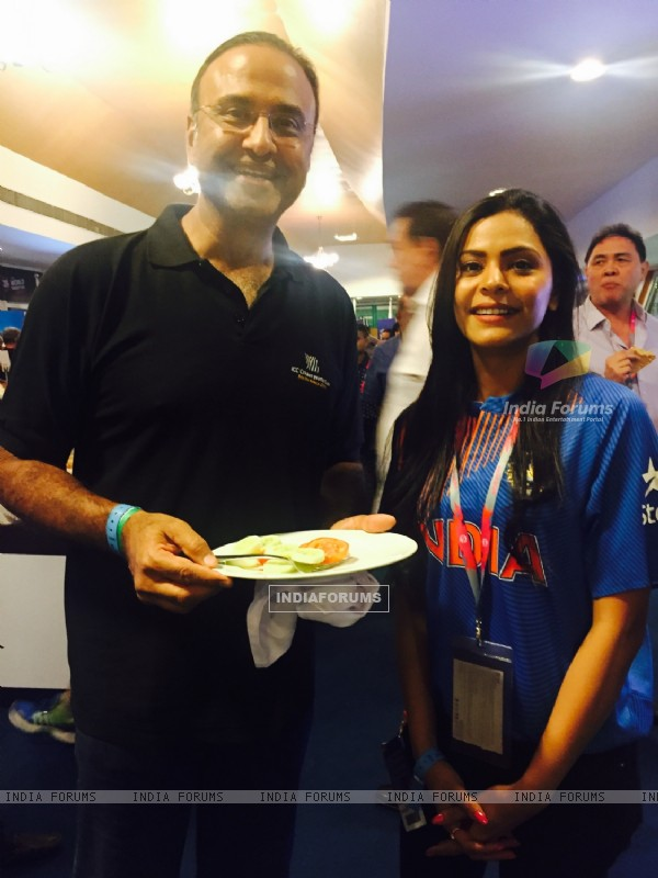 Anuja Sathe with Charu Shara at ICC T20 World Cup