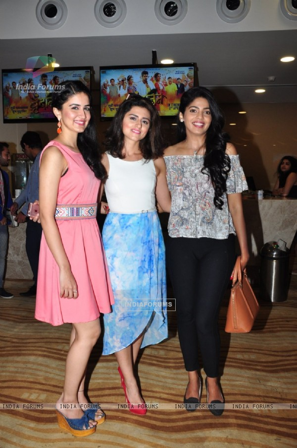 Vaidehi Parashurami, Riddhi Dogra and Pooja Sawant at Special Screening of Marathi film 'Vrundavan'