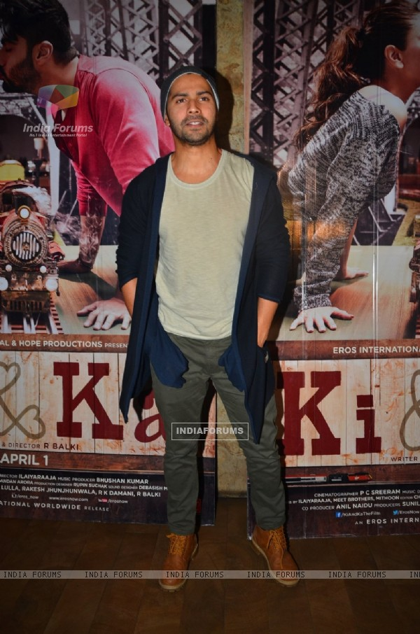 Varun Dhawan at Special Screening of 'Ki and Ka'