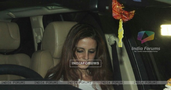 Sussanne Khan for India Vs Aus Screening at Ritesh Sidhwani's House