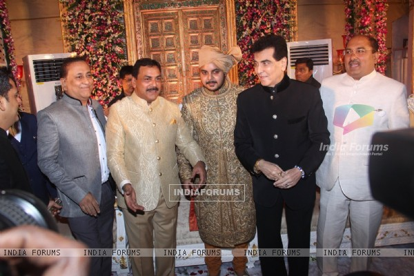 Jeetendra at Wedding Reception of MLA Naseem Khan's son Aamir Khan