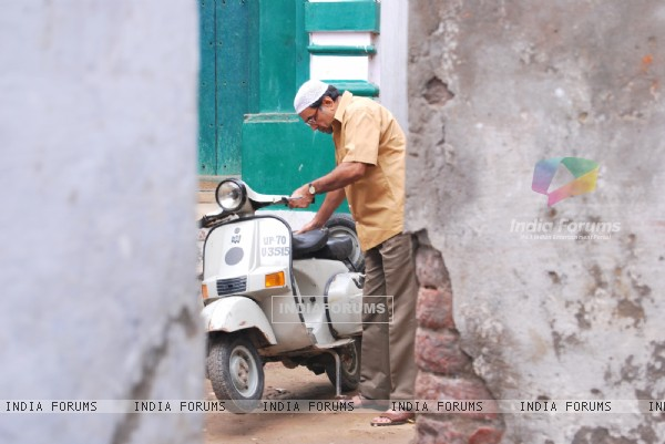 Paresh Rawal with his scooter