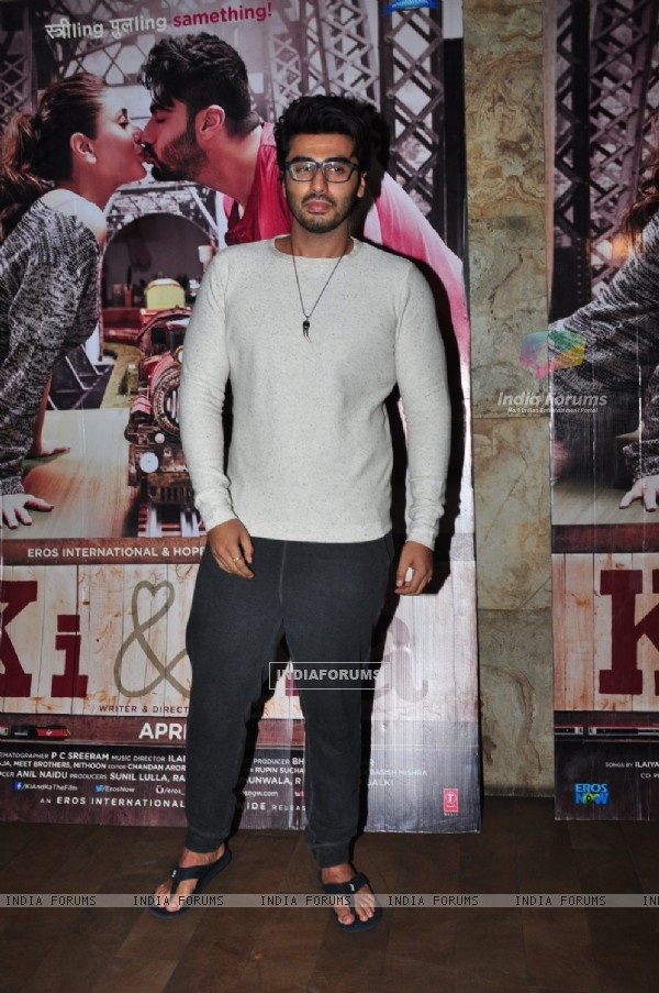 Arjun Kapoor at Special Screening of 'Ki and Ka'