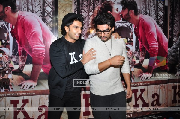 Ranveer Singh and Arjun Kapoor at Special Screening of 'Ki and Ka'