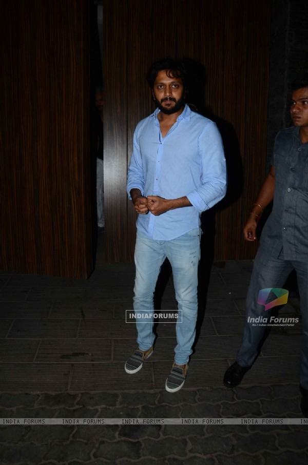 Riteish Deshmukh attends a Party at Aamir Khan's Residence