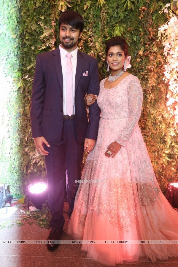 Chiranjeevi's Daughter Sreeja With her Husaband at Reception!