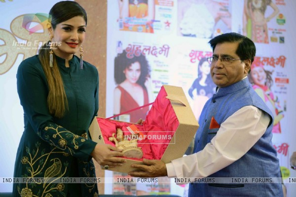 Raveena Tandon at Celebration of 25 Years of 'Gruhalakshmi'