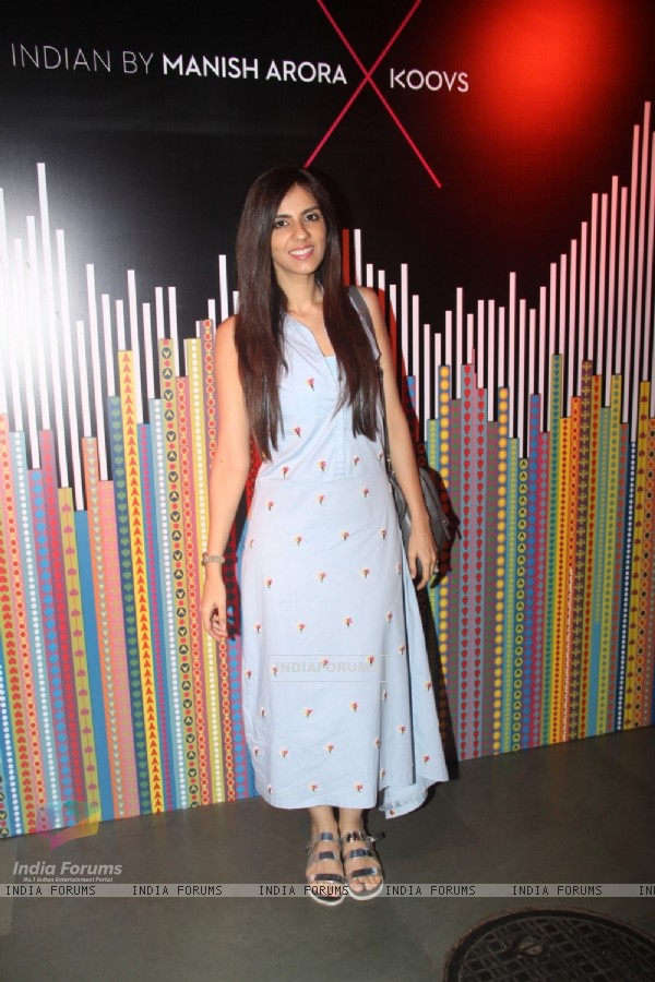 Nishka Lulla at 'Indian by Manish Arora X KOOVS' Event