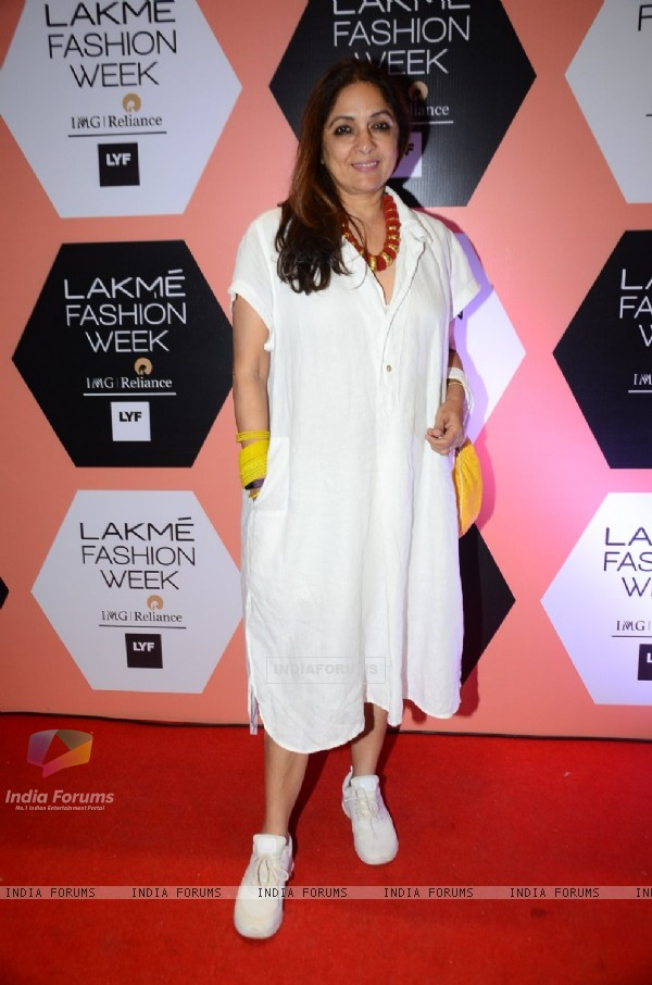 Neena Gupta at Lakme Fashion Show 2016 - Day 4