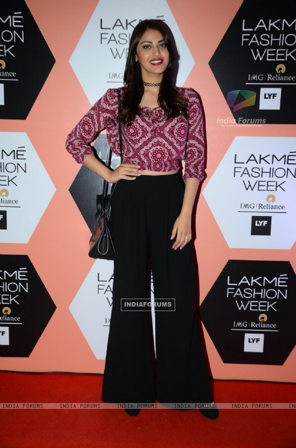 Anushka Ranjan at Lakme Fashion Show 2016